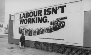 One of the Saatchi brothers' campaign billboards.