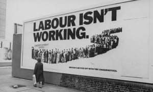 The famous billboard, run by the agency Saatchi & Saatchi for the Conservative 1979 general election campaign.