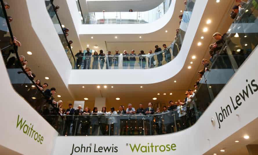 John Lewis partnership and Waitrose staff await the annual bonus result in 2014