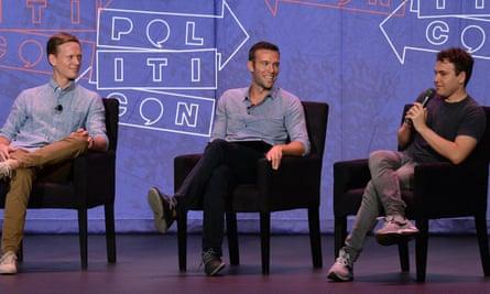 Tommy Vietor, Jon Favreau and Jon Lovett (L-R)