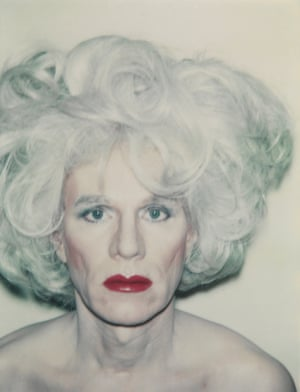 Andy Warhol's Self-Portrait with Platinum Bouffant Wig (1981).