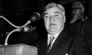 Nye Bevan at the Labour party conference in Blackpool in 1956