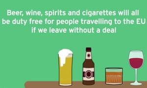 Treasury advert for the return of duty-free EU shopping