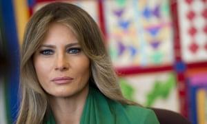 'Speaking out' … Melania Trump.