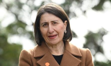 NSW premier Gladys Berejiklian speaks to the media on Wednesday.