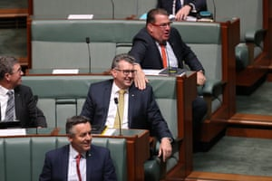 Tfw everyone thinks you're about to leave the(junior) frontbenchThe member for Hinkler Keith Pitt during question time