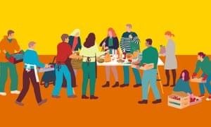 Nell Frizzell: 'Until CSA schemes provide cheap, easy staples, they won't replace supermarkets.' Food assembly: an illustration.