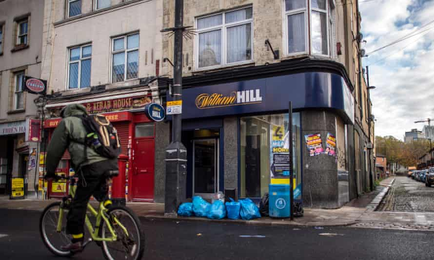 A William Hill bookmakers on Deptford High Street in London.