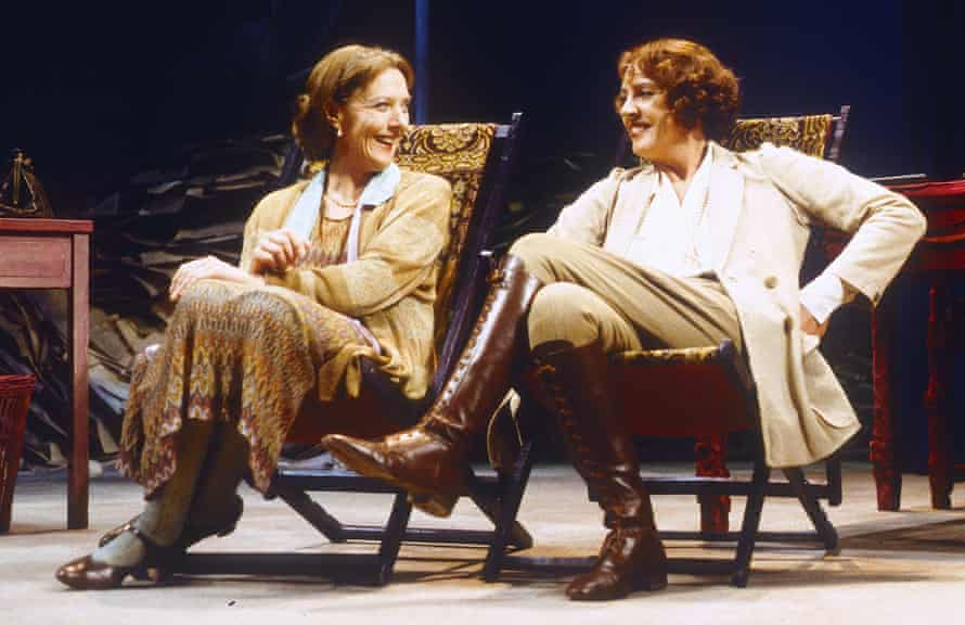 Eileen Atkins as Virginia Woolf, with Penelope Wilton, in her own play Vita and  Virginia at London's Ambassadors theatre in 1993