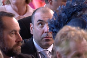 Rick Hoffman looking distinctly unimpressed during the royal wedding.