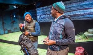 Stamping ground … Tonderai Munyevu and Trevor Laird in Black Men Walking.