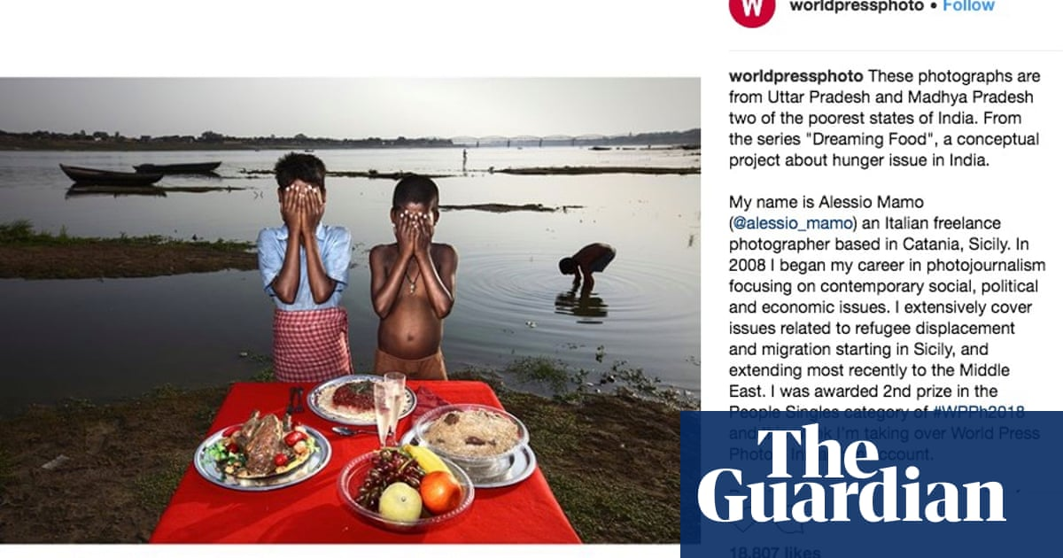 Row erupts over 'poverty porn' images of Indian villagers with fake