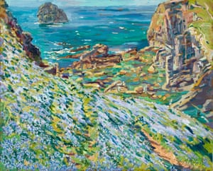 Vernal Squill and Cliff Quarries near Trebarwith, from an exhibition by Mary Martin (marymartin.co) at West Brendon, St Dominic, Cornwall, from 26 May to 2 June.