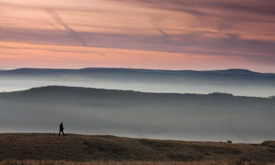 Dark rising … Pendle hill in Lancashire.