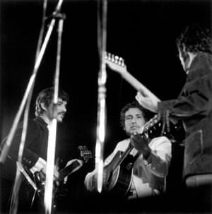 Bob Dylan and his band play the 1969 Isle of Wight festival after a three year break from the stage