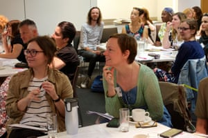 Teachers, librarians and other professionals in attendance at the Guardian Education Centre Reading for pleasure conference 4 July 2019