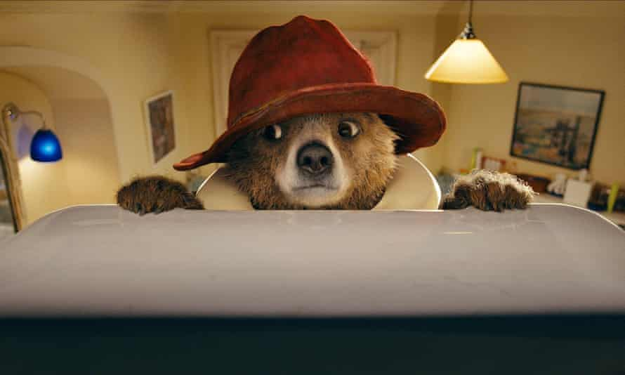 'Moreover the Brown family are perfect fools, they leave him, who knows nothing of modern conveniences, alone to bath and nearly to drown': a still from Paddington Bear, 2014.