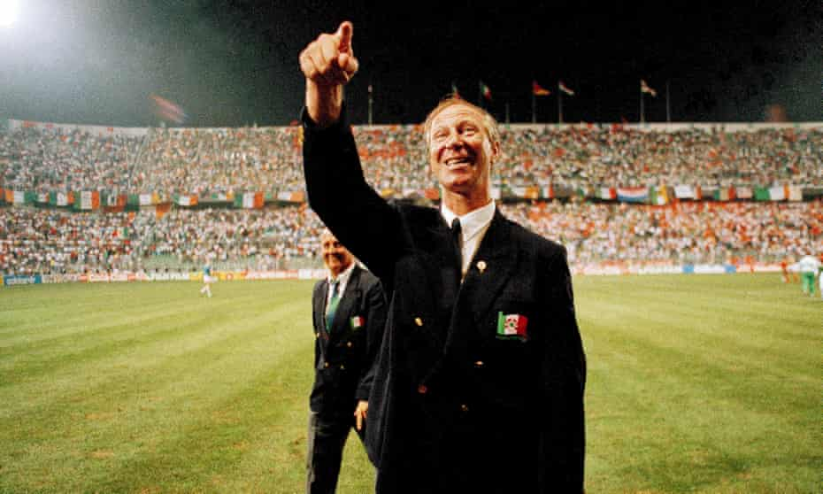 Jack Charlton at the World Cup in 1990.