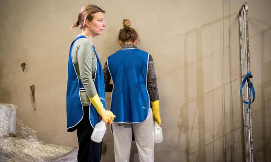 Kristin Hutchinson and Victoria Moseley in Beyond Caring, which was staged at both the Yard and the National Theatre.