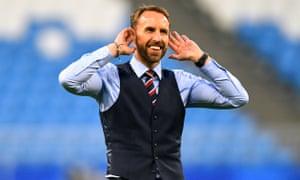 Gareth Southgate in his waistcoat