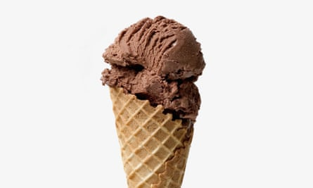 Whisk to soft peaks: chocolate ice-cream the easy way.