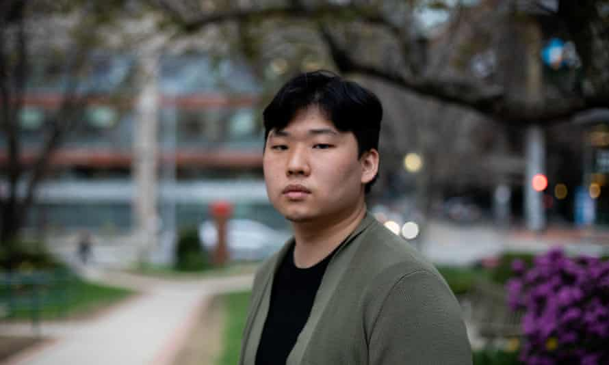 Timothy Chang poses for a portrait near his place of work, the Dana-Farber Cancer Institute, on April 2021, in Boston, Massachusetts.
