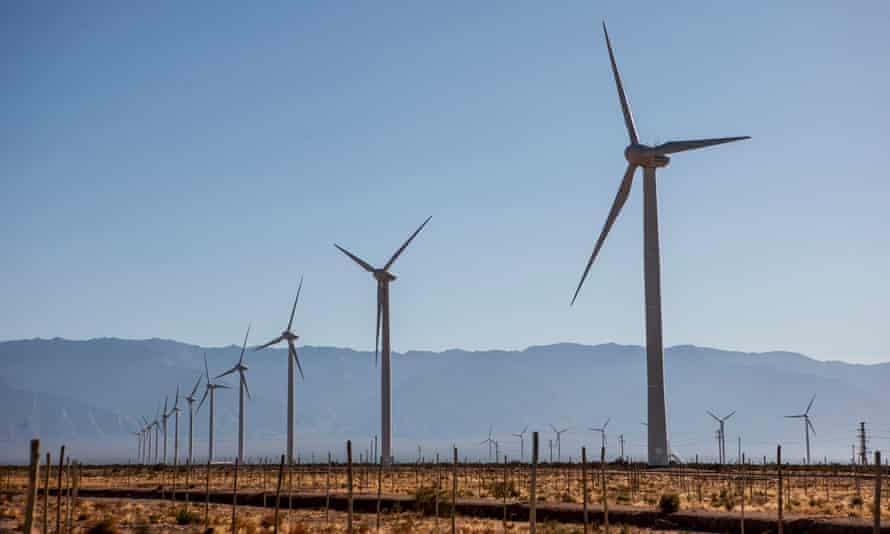 Arauco windfarm in the village of Aimogasta, La Rioja, Argentina