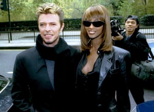 David Bowie and wife Iman in 1995