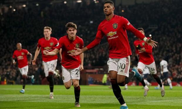 Mourinho's Tottenham lose at Man United thanks to Rashford double