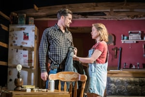 With Orlando Bloom in the West End show Killer Joe.