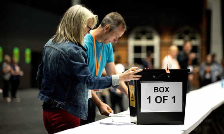EU Referendum Voting, Manchester, UK