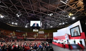 Bayern Munich's president Uli Hoeness speaks during the club's annual general meeting.