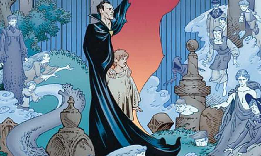 An illustration from Neil Gaiman's Graveyard book.