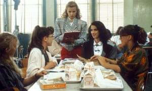 Winona Ryder, second from right, as Veronica Sawyer in Heathers (1988).