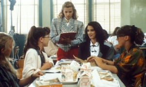 Elfin killer … Winona Ryder, second from right, in Heathers.