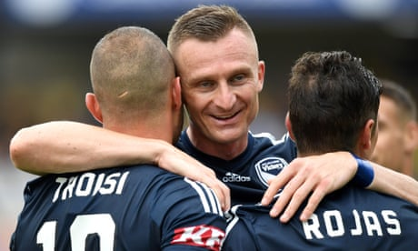 Besart Berisha strikes twice as Melbourne Victory sink Central Coast