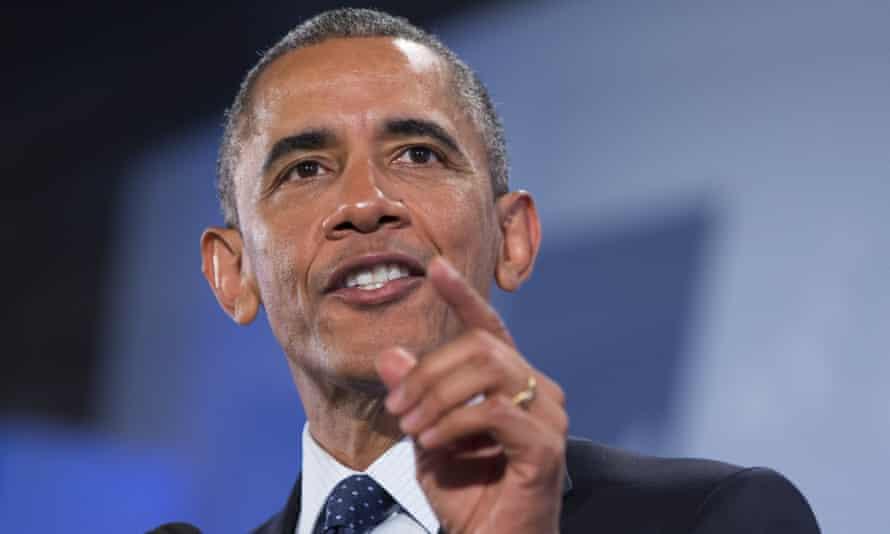 Barack Obama delivers his speech in Nairobi