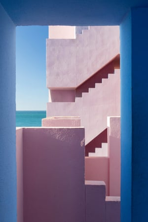 """Muralla Roja, by Agnese Sanvito, taken in Calpe, Spain: """"This image encapsulates the sense of light and colour in photography that I enjoy most, and which is important to my work."""""""