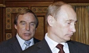 Sergei Roldugin with Vladimir Putin.