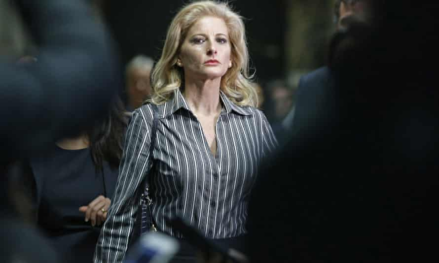 Summer Zervos leaves Manhattan supreme court on 5 December 2017. The ex-Apprentice contestant sued the president for saying her sexual misconduct claims were lies.