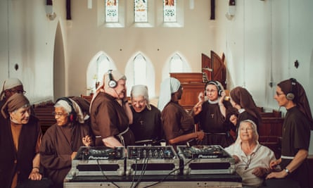 'We have sisters who sing tunefully and beautifully, and we have others who sound tone deaf': the nuns practising together.