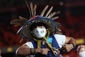 A member of Team Mexico takes part.