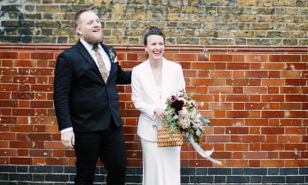 Sarah and Willy on their wedding day in October 2019.