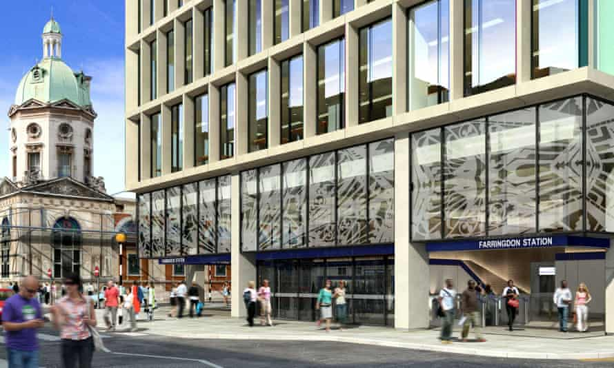 Sparkling ideas … Farringdon station, which references the nearby jewellers of Hatton Garden.