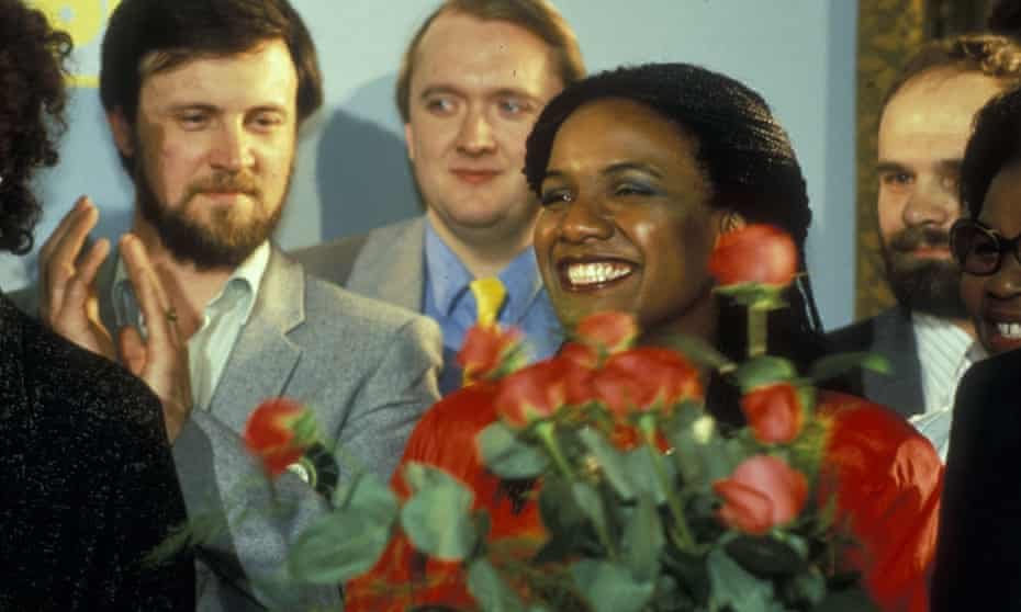 Diane Abbott after her election in 1987