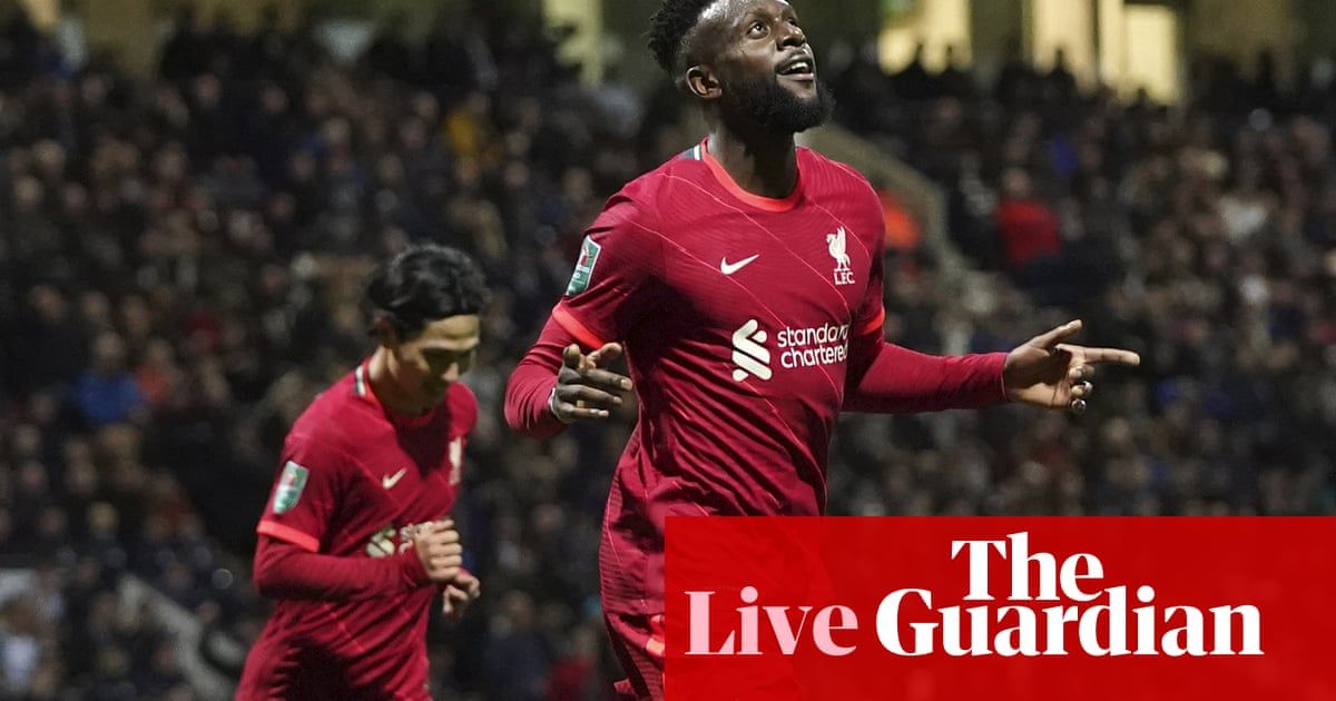 Preston North End 0-2 Liverpool: Carabao Cup – as it happened