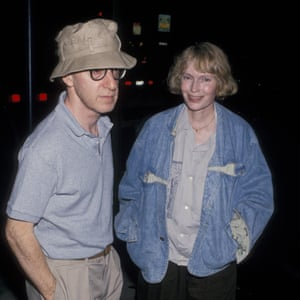 Allen and Mia Farrow in 1989