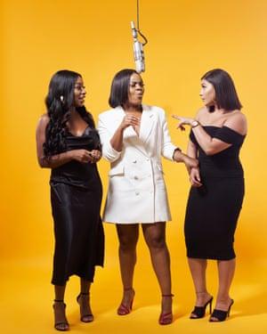 Audrey Akande, Tolani Shoneye and Milena Sanchez, hosts of The Receipts