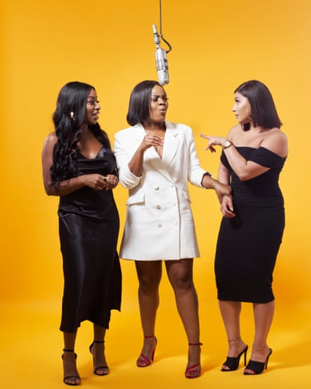 Audrey Akande, Tolani Shoneye and Milena Sanchez, hosts of The Receipts