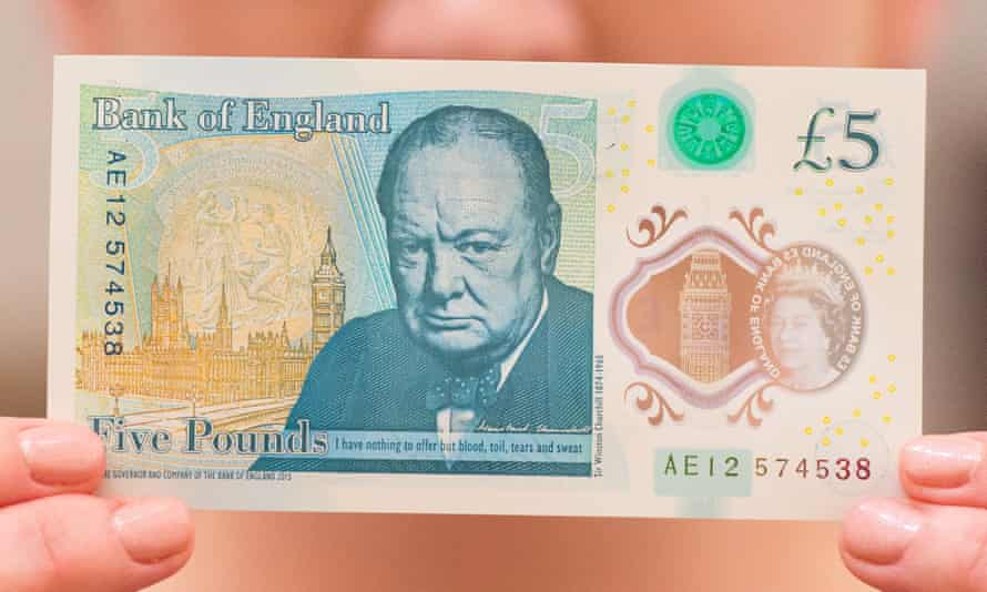 The new £5 note.